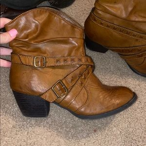 Brown Ankle Cowboy Boots